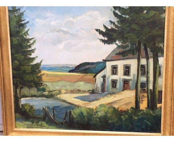Tableau paysage signé