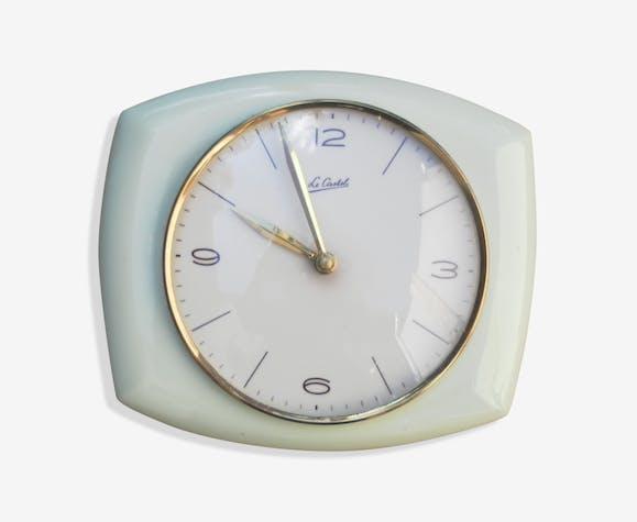 Pendule de cuisine c ramique porcelaine fa ence jaune vintage ywrevgd - Pendule de cuisine ...