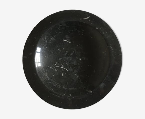 Vide poche en marbre noir 60s travail italien