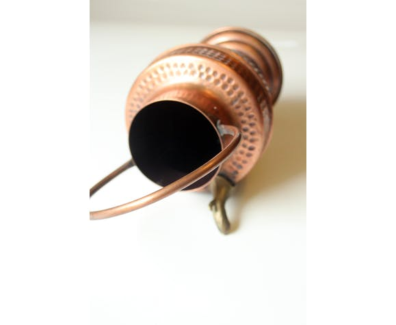Copper watering can, copper water dispenser with brass spout