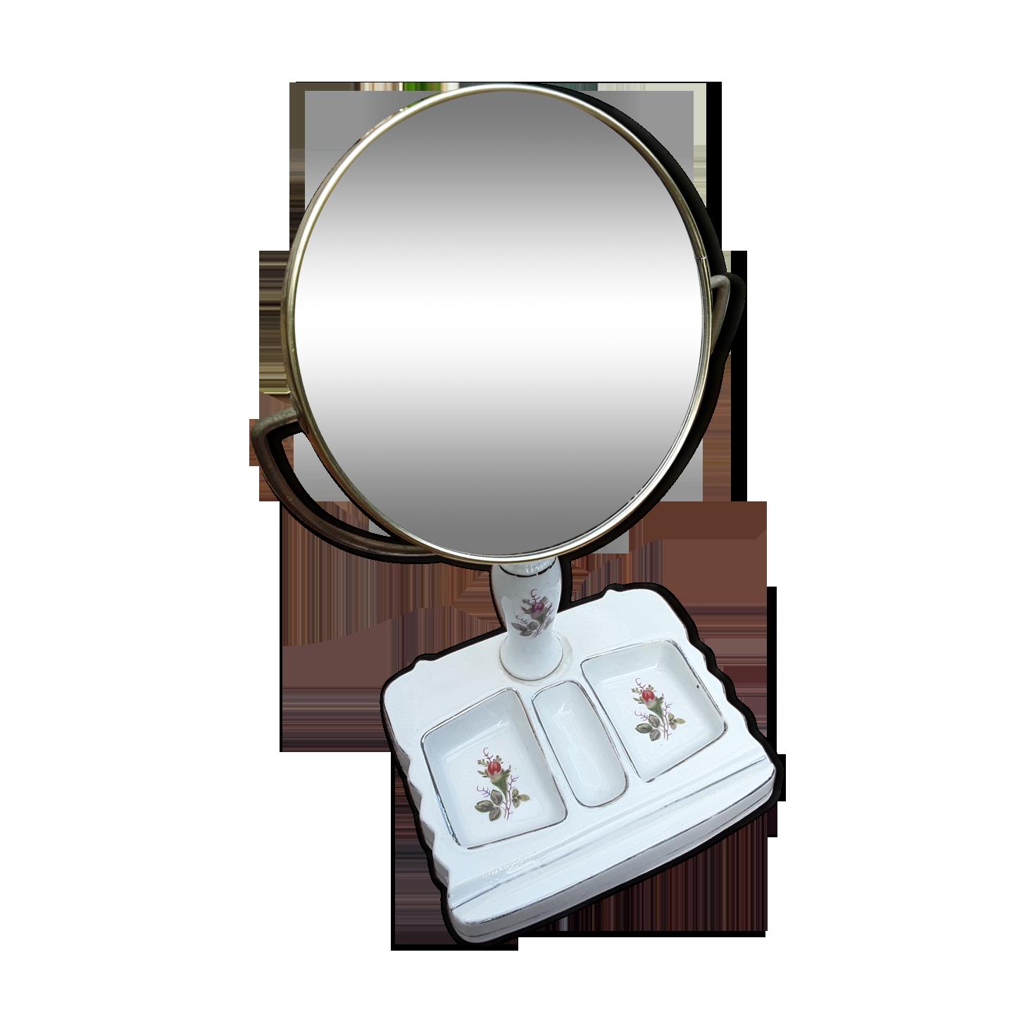 Premier Housewares Table Miroir-En bois-rasage maquillage coiffeuse pivotant