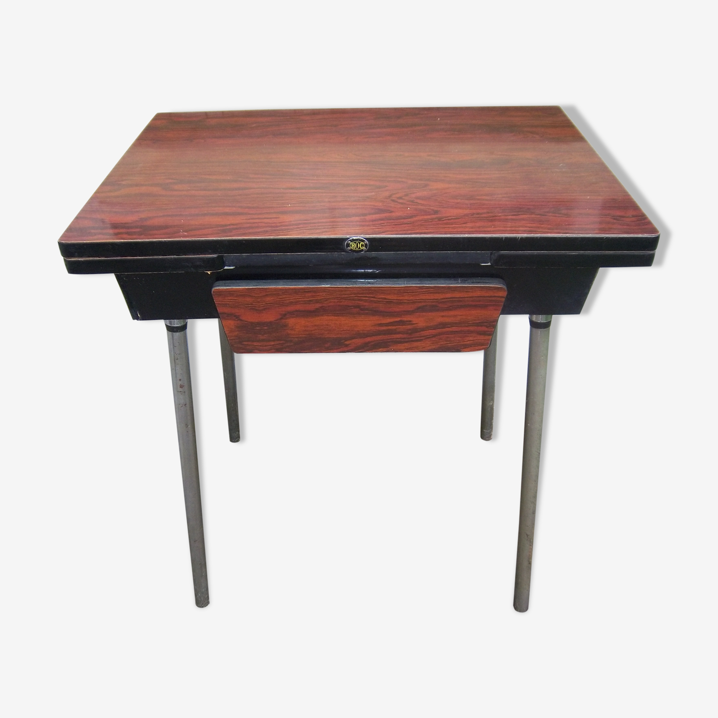 Kitchen Table Rock With Extensions And Brown Formica Drawer Wood
