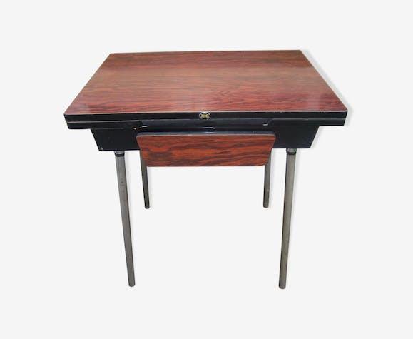 table de cuisine roc avec rallonges et tiroir en formica. Black Bedroom Furniture Sets. Home Design Ideas