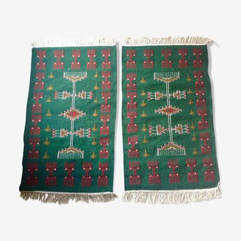 Lot de 2 tapis kilim berbères 100x60cm