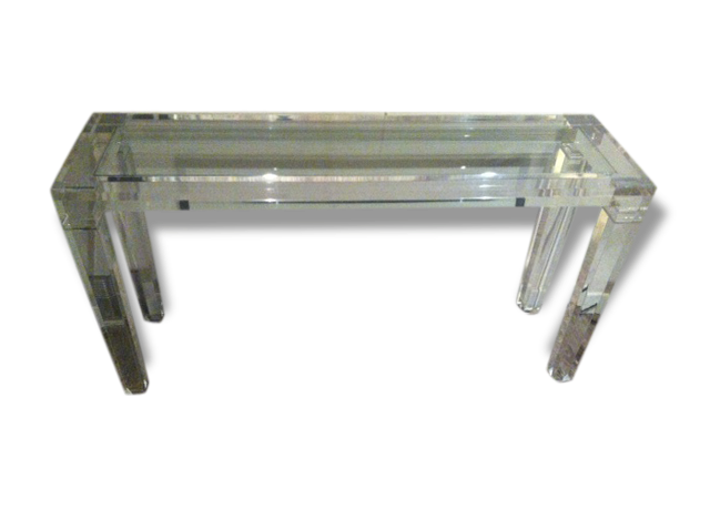 console plexiglas transparent simple edge floating console with plexiglas base with console. Black Bedroom Furniture Sets. Home Design Ideas