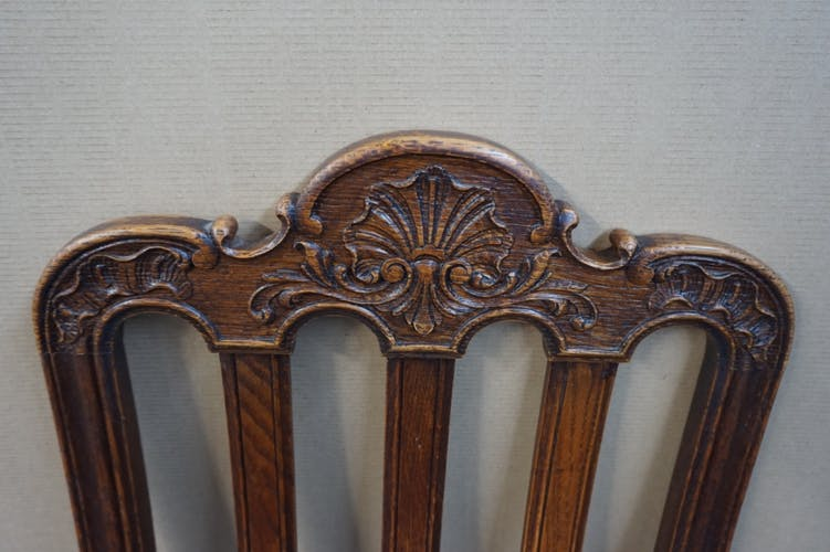 Set of 6 chairs in the style of Louis XV