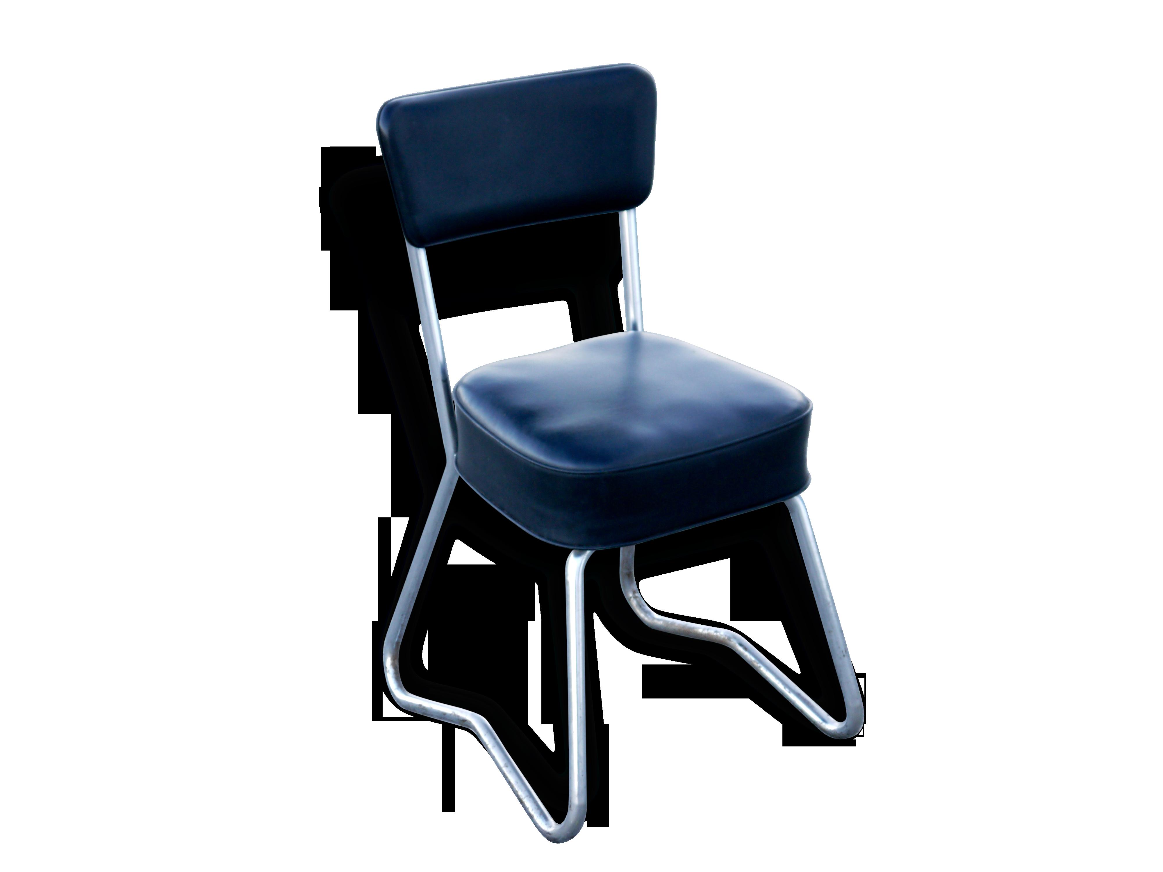 Chaise de bureau indus style pullman roneo métal noir