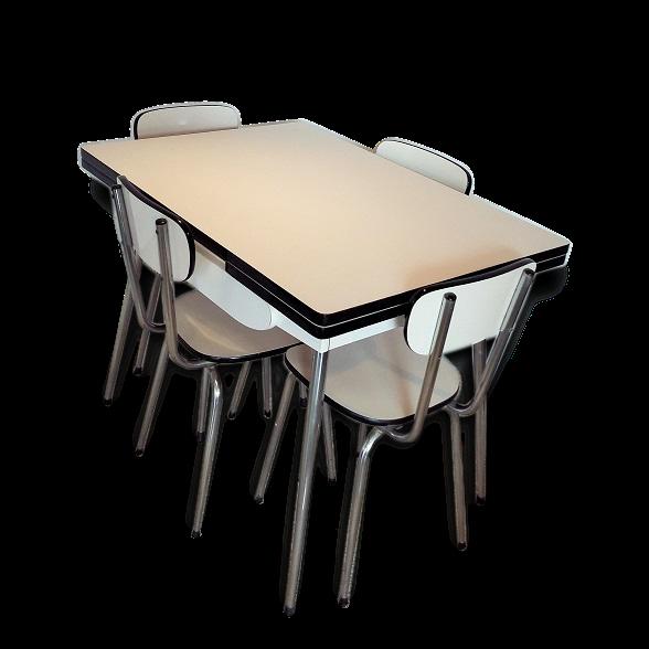 Table de cuisine formica cool excellent la plateforme for Ensemble table et chaise transparent