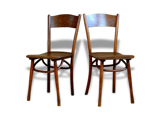 paire chaises bistrot taverne poque thonet de j j kohn n 400 d but xxe mod le rare bois. Black Bedroom Furniture Sets. Home Design Ideas