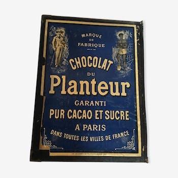 Affiche publicitaire Chocolat Le Planteur pur cacao et sucre Paris