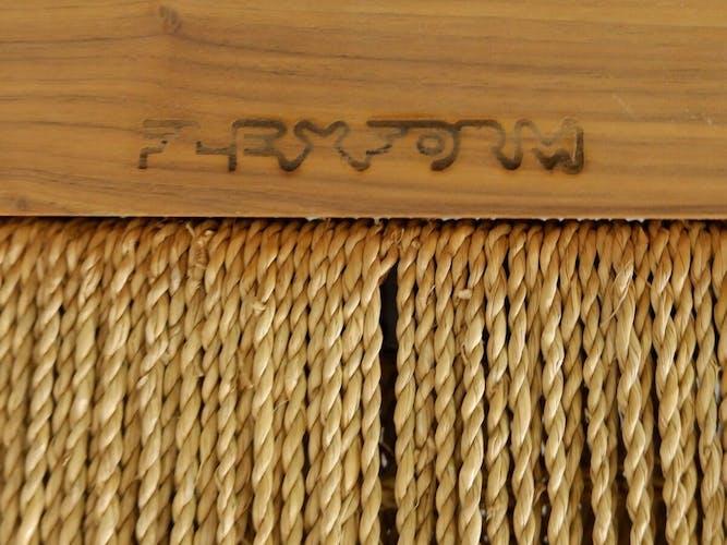 Méridienne italienne en bois et corde tressée - FlexForm
