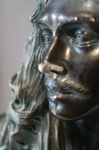 Buste de Molière en plâtre