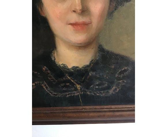 Portrait de femme fin 19eme