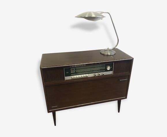 meuble radio tourne disque lumophon 1950 bois. Black Bedroom Furniture Sets. Home Design Ideas