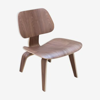"Chaise  ""LCW"" Herman miller en noyer, Charles Eames"