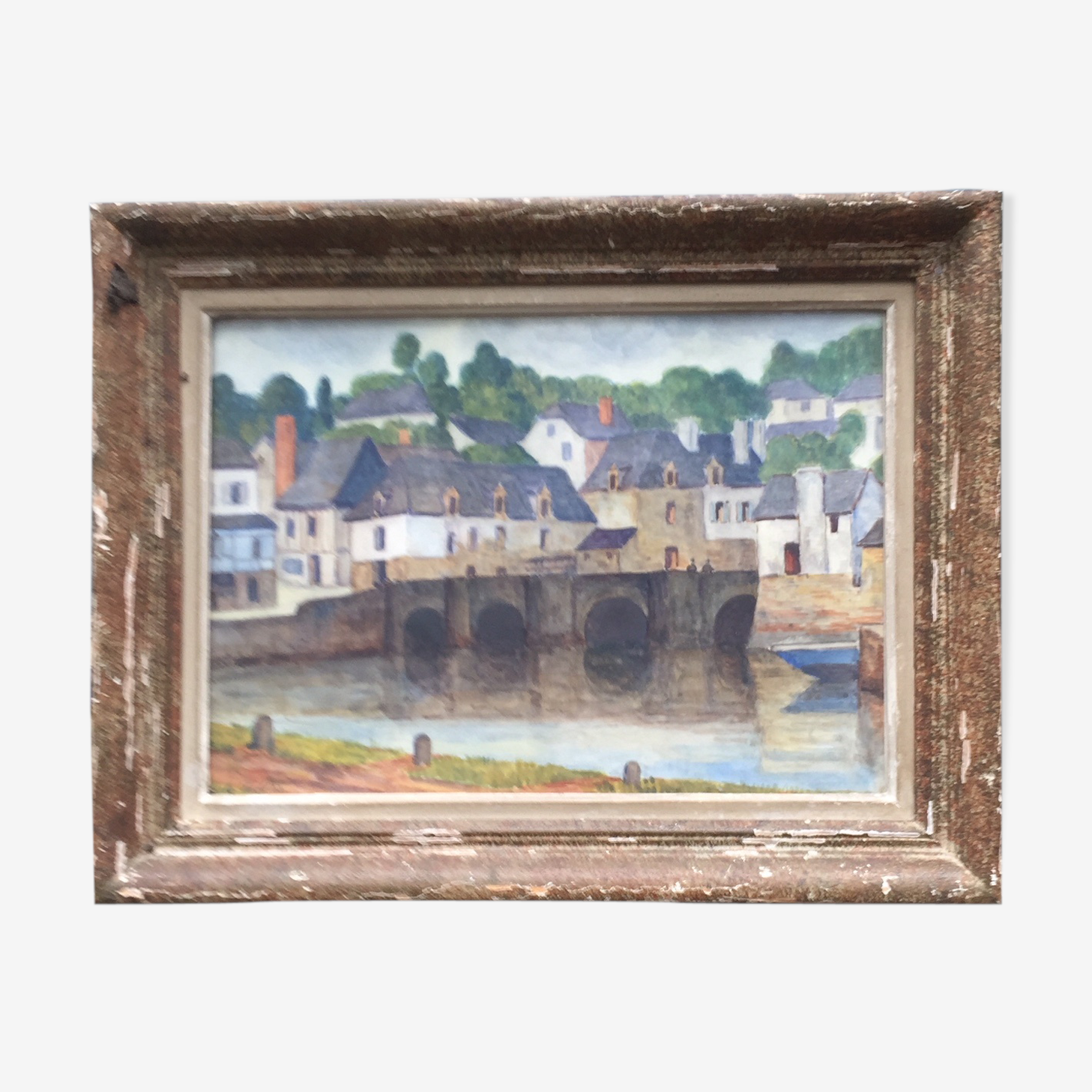 Oil paintings framed watercolor of the 1930s