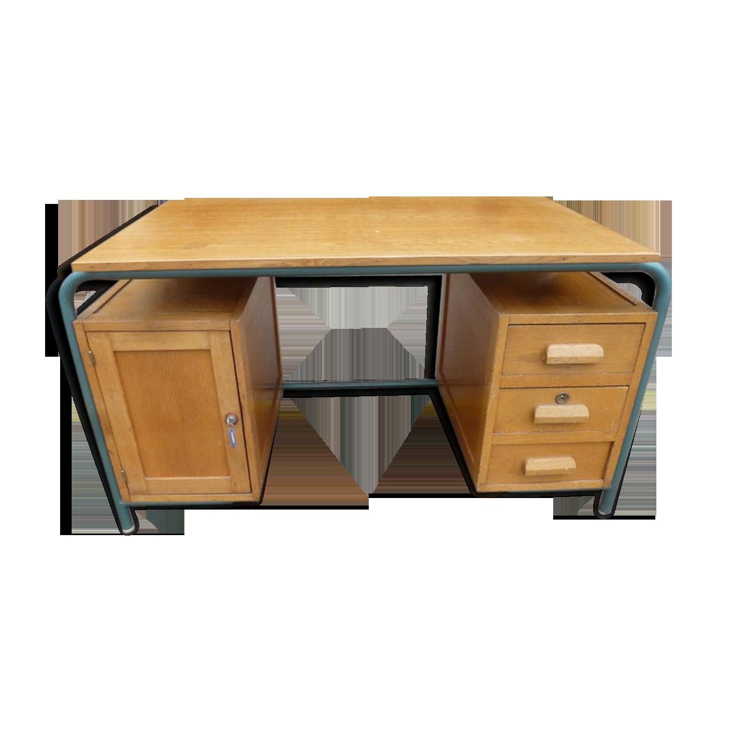 Ancien bureau de maître d école années bois matériau