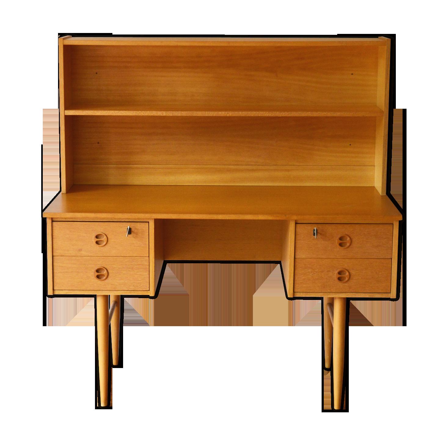 Bureau design scandinave avec étagère bois matériau bois