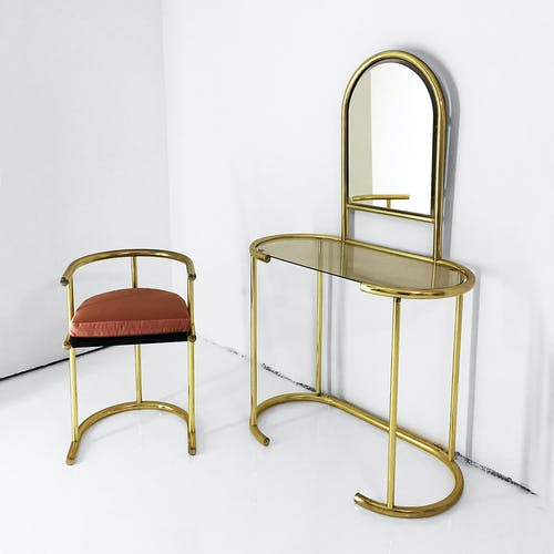 Hairdresser and brass chair