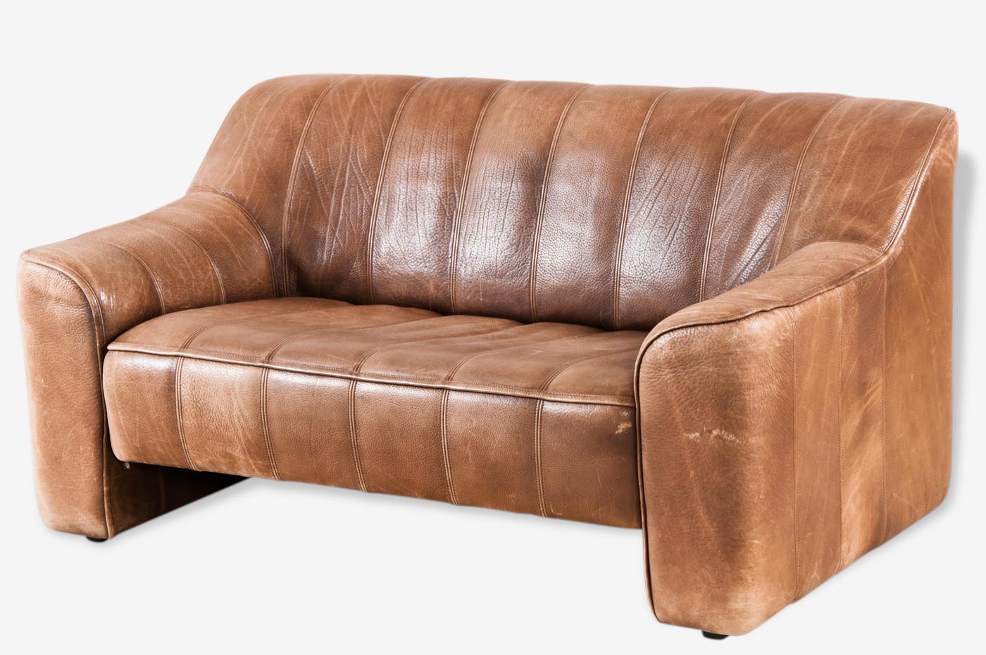 Canapé cuir de sede marron cuir marron design