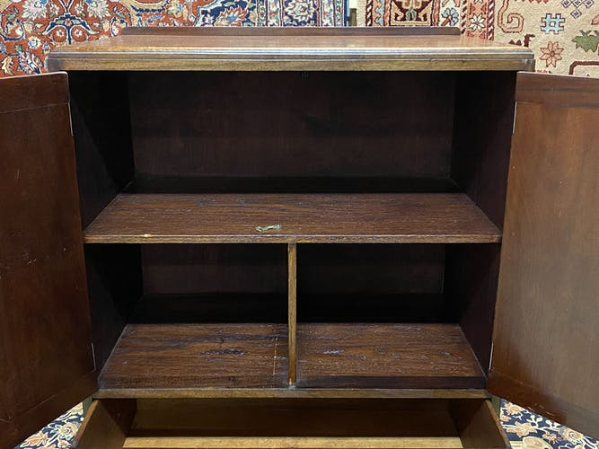 English furniture 2 doors and drawers in mahogany - 30s
