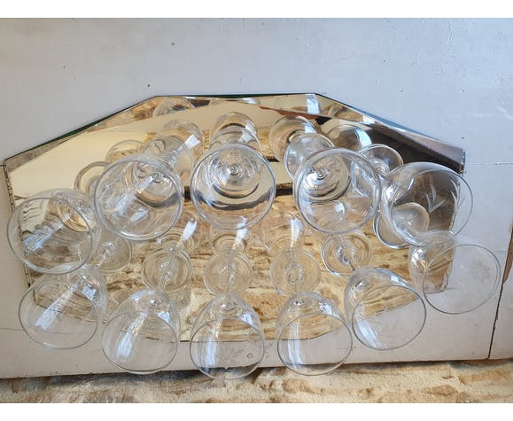 Lot de 11 verres à digestif en cristal