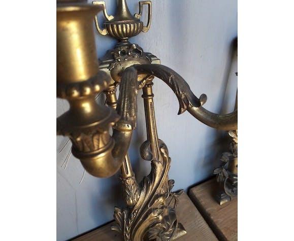 Paire d'applique en bronze st Louis XVI ep XIXem