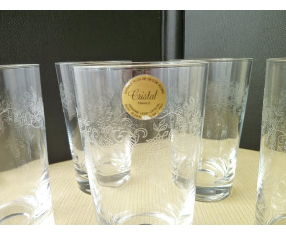 Set de 6 verres gobelets pour orangeade