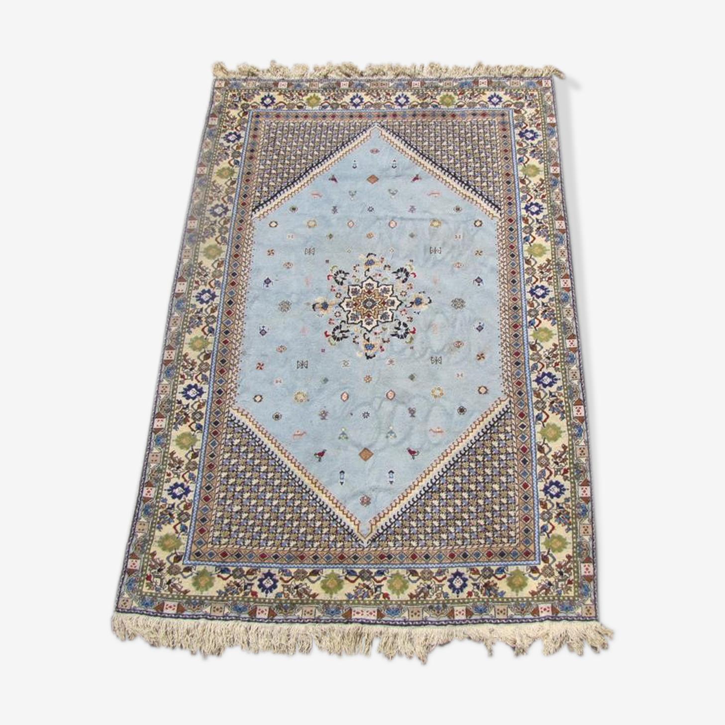 Tapis Ancien Marocain Rabat Fait Main Laine 198x290 Cm Laine Coton
