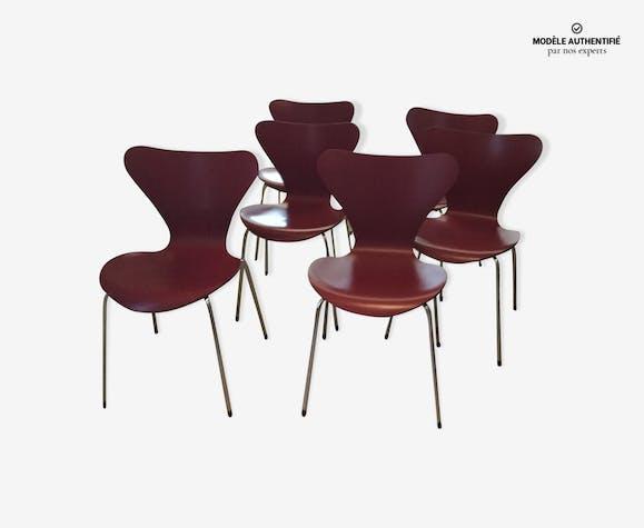 Set de 6 chaises Fritz Hansen série 7