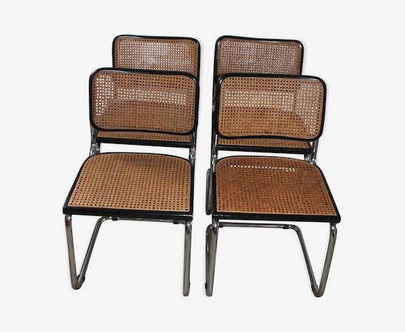 Lot de 4 chaises par Marcel Breuer cesca B32