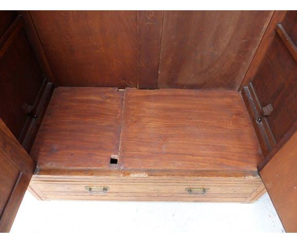 Armoire penderie ancienne à tiroir