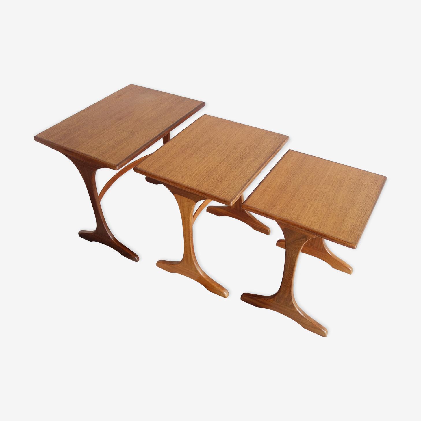 Set of teak nesting tables by G-Plan Fresco 1960