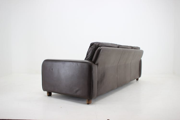 1960s George Thams leather 3-seater sofa