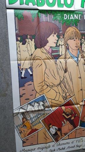 Affiche originale cinéma diabolo menthe 160x120