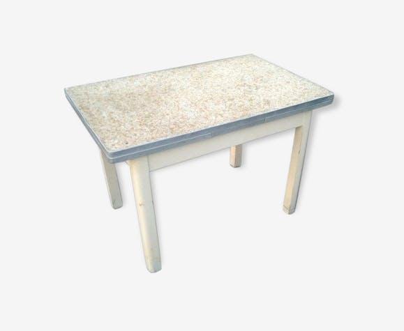 table de cuisine vintage ann es 50 avec rallonges bois. Black Bedroom Furniture Sets. Home Design Ideas