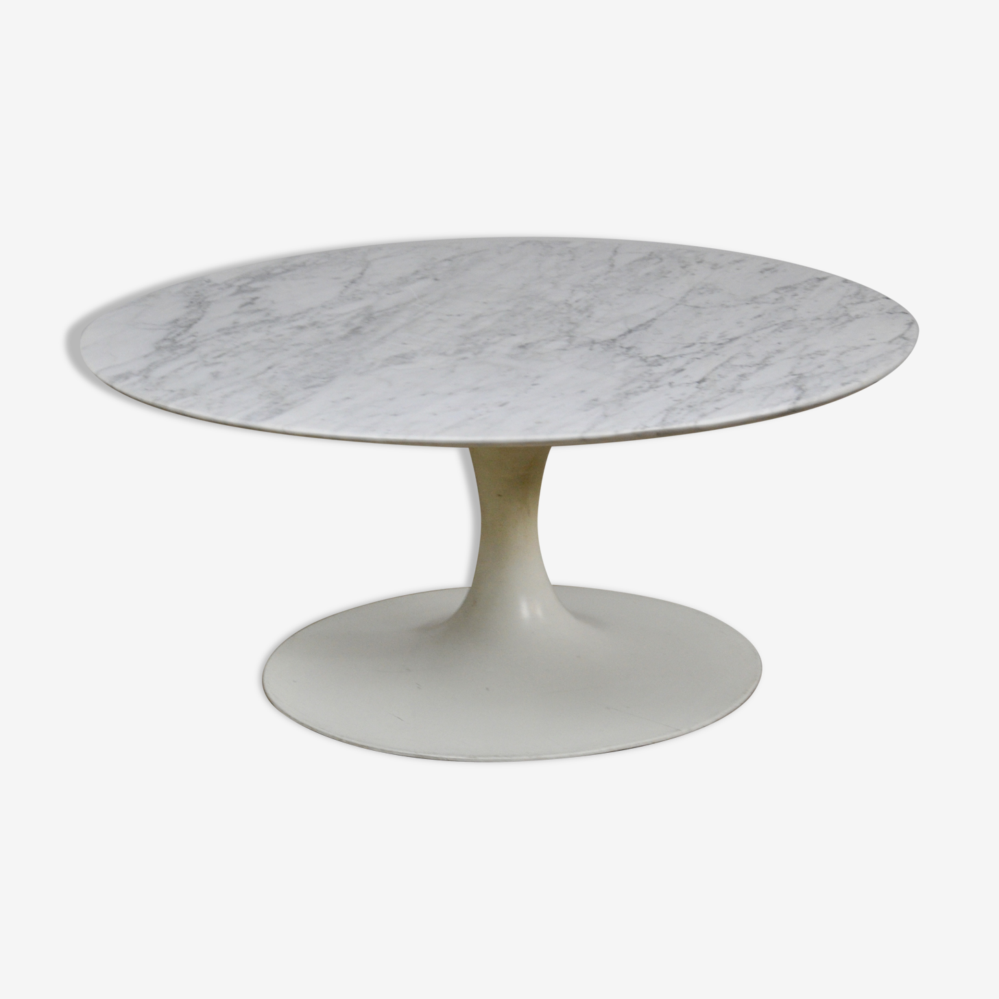Coffee table in Carrara marble 1960 s
