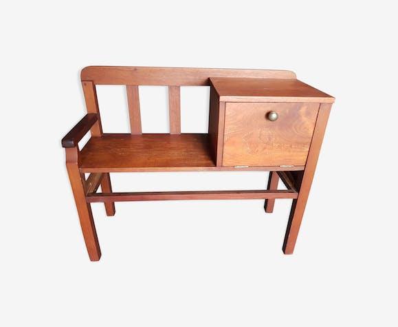 Banc Téléphone Vintage Wood Wooden Vintage Cyz3ior