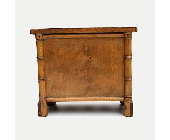 Commode de poupée ancienne style forme bambou bois Jouet ancien