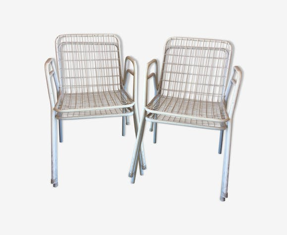 Lot of 4 armchairs Emu model Rio