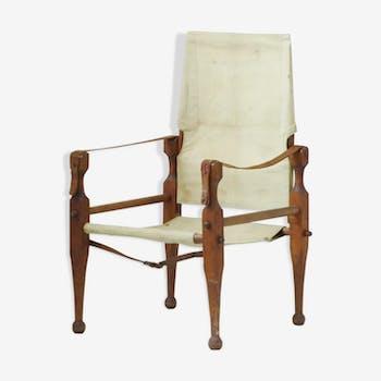 Fauteuil scandinave Safari en teck édition ancienne vintage Danish chair