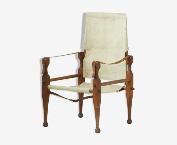 Scandinavian Chair Safari edition teak old vintage Danish chair