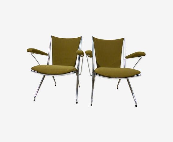 Paire de fauteuils vintage pliants