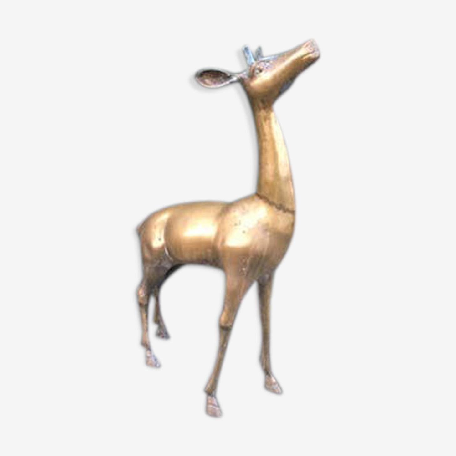 Cerf en bronze