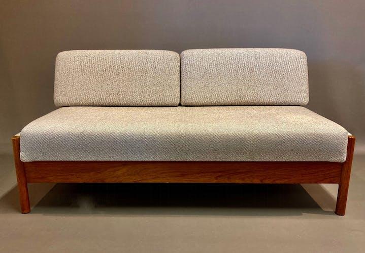 Canapé teck modulable design scandinave 1950