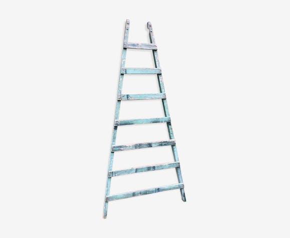 Old vintage green ladder