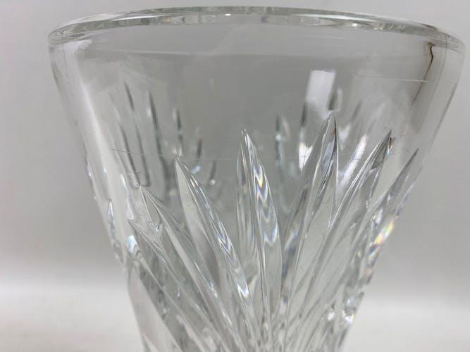 Vase en cristal transparent 21cm
