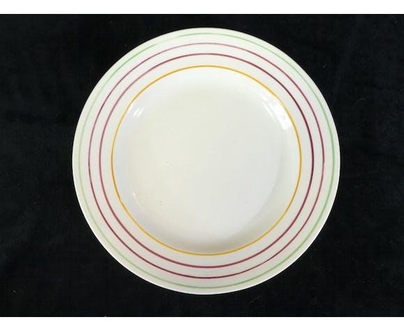 12 assiettes plates en faience de Gien vintage années 50