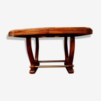 Table Walnut art deco massif