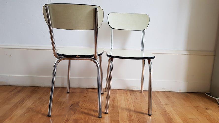 Paire de chaises JPP Formica jaune